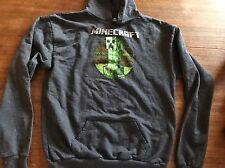 Official Minecraft Jinx Creeper Hoodie YXL Zip Up Face Sweatshirt