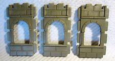 * Playmobil * 3 x pared con ventana de set 3450 3666 ritterburg *