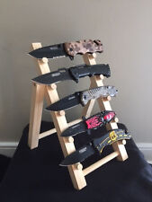 """Wooden Knife Rack or Display Stand, Selling at Flea Markets Knife Show 7.5"""" Wide"""