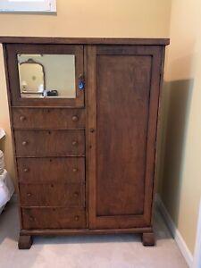 Vintage Antique Oak Armoire