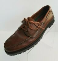 H.S. Trask Boat Moc Toe Mens Brown Leather Lace Up Shoes Size 13M
