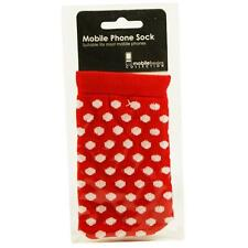 Cute Red and White Polka Dot Phone sock case cover for iPhone HTC Samsung NEW