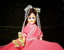 Vintage 1970 Wedding Hong Kong Fl 6020 Bridesmaid Doll w/ Sleep Eyes Open & Shut
