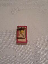Vintage 1:12 Scale Dollhouse Miniature Wooden Mouse Trap