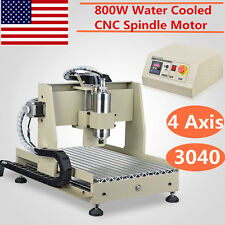 800W 4 Axis 3040 VFD CNC Router Engraving Engraver Milling Drilling Machine SALE