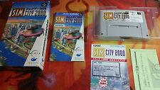 SIM CITY 2000 SUPER FAMICOM SFC BOX BOXED