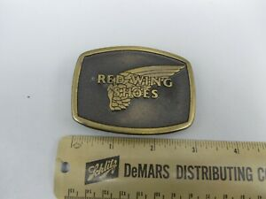 Vintage Rare Red Wing Shoes Footwear Magicast Co. Belt Buckle