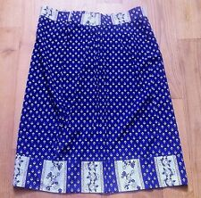 FRENCH 1960s WOMAN WRAP WAIST APRON~ PROVENCE INDIENNE PRINT ~MADE IN FRANCE~NEW