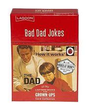 Lagoon Ladybird Books For Grown Ups 100 Best Bad Dad Joke Cards Funny Jokes Gift