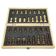 Wooden Chess Set Folding Chessboard With Magnetic Children Gift Outdoor Game