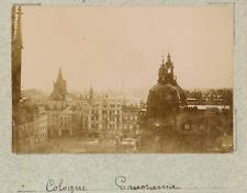 Allemagne, Cologne, Köln, vue panoramique de la cité  vintage albumen print,Ph