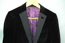 SUPER GORGEOUS !!! TED BAKER  MEN  VELVET FITTED  JACKET EU 40 R .MADE IN ITALY