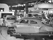 1950 Studebaker Factory Assembly line photo B&W, Refrigerator Magnet, 40 Mil
