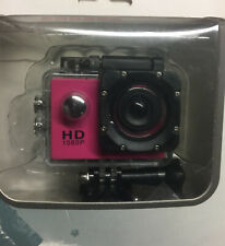 Sports HD DV Helmet Action Camcorder 1080P Water Resistant Mini Camera DK PINK