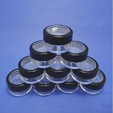 100 Pack Plastic Window Lid w Sifter & Seal Sticker Loose Powder Packing Jars 5g