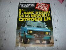 REVUE  L'AUTO-JOURNAL  OCTOBRE 1976 CITROEN  LN