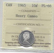 1965  ICCS Graded Canadian,  10  Cent, **PL-66 HC**
