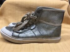e975cbfd4bffe3 VANS WELLESLEY Women s SZ 5.5 High Top Leather Lace Up Sneakers Metallic  Shoes