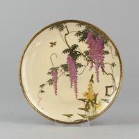 Antique 19c Satsuma Plate. Fabulous quality Japanese Porcelain Japan Marked Base