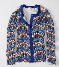 Anthropologie TABITHA L Sweater CRIMPED FREQUENCIES Button Cardigan Cotton NWT