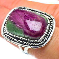 Large Ruby Zoisite 925 Sterling Silver Ring Size 7.5 Ana Co Jewelry R43758F