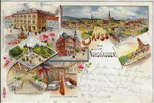 NORDHAUSEN: Gruss aus, AK von 1898