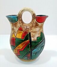 Wedding Pitcher Two Spouts Pottery Peru Columbia Mexico Primitive Clay Ceramic