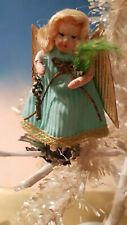 Vintage Lovely German Angel*Clip On Ornament* 3 Inch