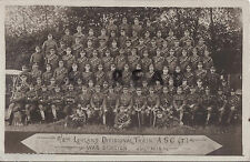 WW1 Soldier Group 2 / 2nd Lowland Divisional Train ASC Army Service Corps 1915