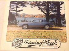 Turning Wheels Studebaker Magazine 1963 R2 Avanti June 1992 062117nonrh