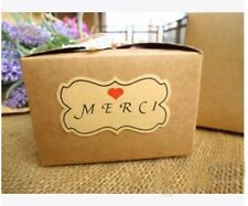 """48pcs Thank You Stickers in French """"Merci"""" Wedding/Engagement/Bomboniere/Gift"""