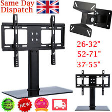 "26""-71"" Tabletop TV Stand Wall Mount Bracket Pedestal LCD LED VESA Home Discount"