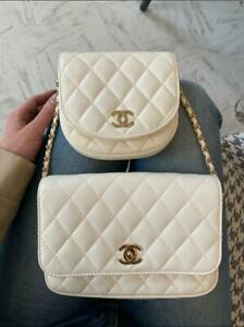 CHANEL Side Packs Flap Bag Quilted Lambskin Small limited edition 100% original
