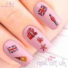 British Nail Stickers, Art, Decals, London, UK, English,  Flag,01.02.052