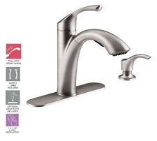 NEW ! KOHLER R72510-SD-VS MISTOS PULL OUT KITCHEN FAUCET WITH SOAP DISPENCER