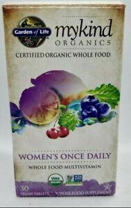 Garden of Life myKind Organics Women's Once Daily Multi Vitamin 30 vegan tablets