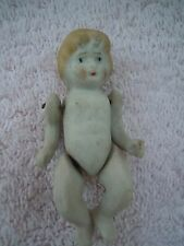 Vintage Jointed Bisque Hand Painted 3� Doll