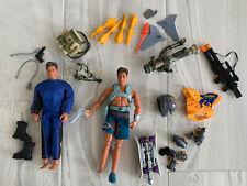"Vintage 1998 Mattel Max Steel 12"" Action Figures Lot Of 2 W/accessories GI Joe"