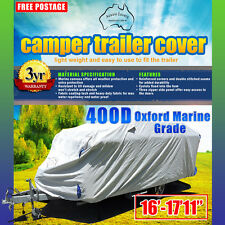 Heavy Duty 16'-18' Camper Trailer Cover 400d Oxford Marine Grade Polyester