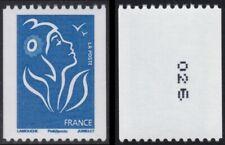 2008 FRANCE N°4159** Roulette Marianne de Lamouche Num Noir à Droite Verso MNH