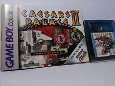 Caesars Palace II - Gameboy Game Boy Color (Cartridge,Manual) CGB A12P EUR