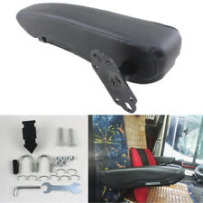 Universal Black Leather Stitched Vehicle Right Armrest Folding Seat Arm Pad DIY