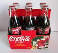 Vtg Coca Cola 6 Pk Bottle Carton 1997 Christmas Edition Sundblom Santa Unopened