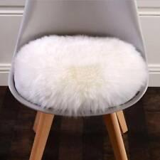 Fluffy Furry Faux Sheepskin Sofa Chair Seat Cover Floor Warm Mat Cushion Rug GG