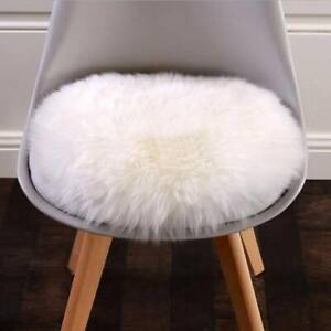 Faux Wool Fluffy Round Area Rug Chair Cover Hairy Carpet Seat Pad