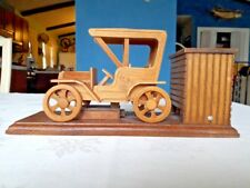 """Music Box Animated Model Car Wooden plays """"King of the Road"""" Chinese Craftsman"""