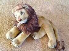 Antique 1940's Steiff LEO The Lion Mohair Stuffed Animal with Original Tag