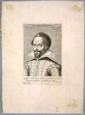 """Eau forte de GROTIUS, """"Portrait de Barclais"""""""
