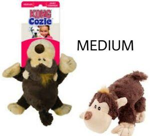 KONG Cozie FUNKY MONKEY Plush MEDIUM Soft Dog Cuddle Toy - SQUEAKS