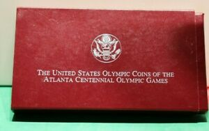 1995-P Atlanta Olympic Gymnast & Blind Runner Silver 2 Coin Proof Set